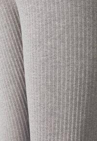 Missguided Tall - TIE WAIST SET - Leggings - Trousers - grey marl - 6