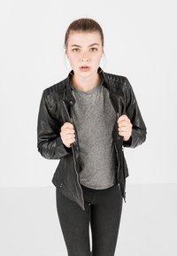 COCO - LOTTE - Leather jacket - schwarz - 0
