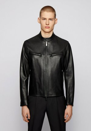 NEPAS - Leather jacket - black