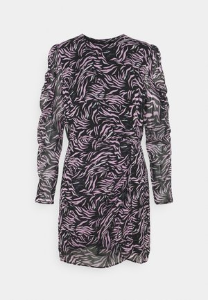 DRESS - Korte jurk - black/pink