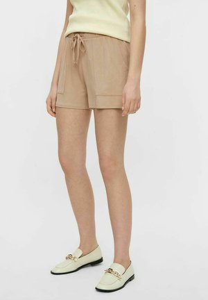 PCNEORA FRILL - Shorts - warm taupe