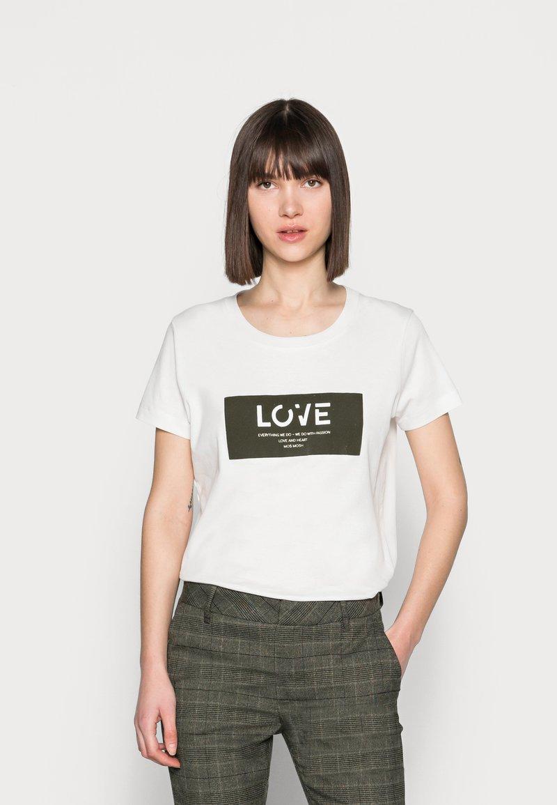 Mos Mosh - CHÉRIE TEE - Print T-shirt - grape leaf