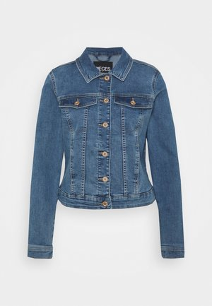 PCAIA FITTED JACKET - Denim jacket - light blue denim