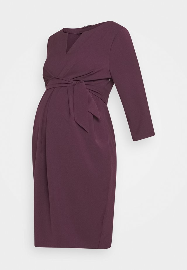DAVEA - Robe fourreau - plum