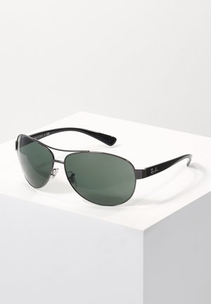 Sunglasses - gunmetal/green