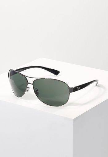 Sunglasses - gunmetal/green