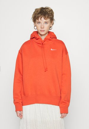 HOODIE TREND - Hættetrøjer - mantra orange/white