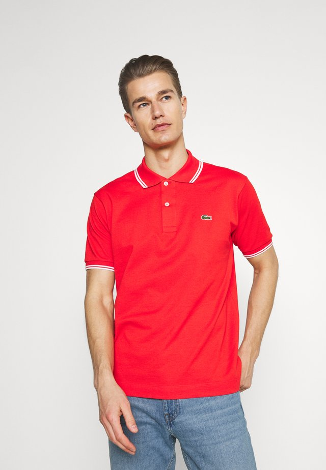 Polo shirt - redcurrant bush/white
