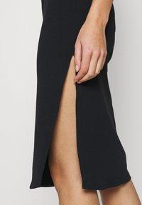 Abercrombie & Fitch - MIDI DRESS - Day dress - black - 5