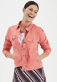 Fransa - FRIVTWILL  - Denim jacket - shell pink - 0