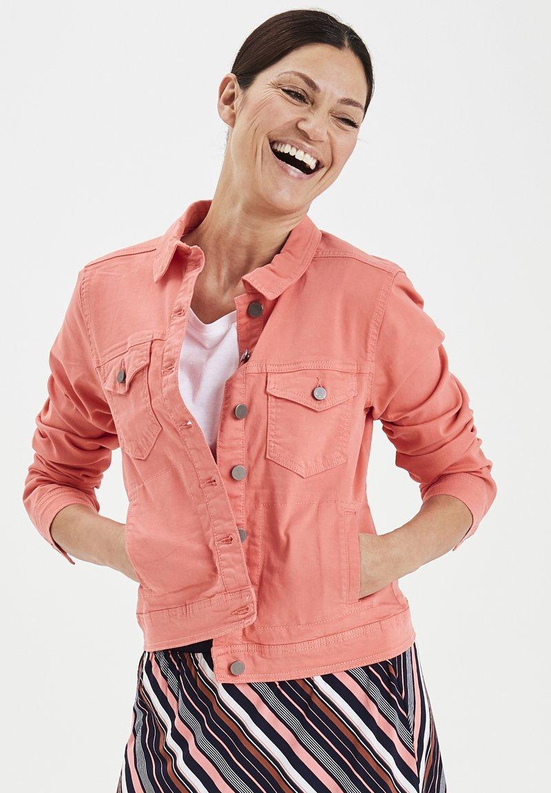 Fransa - FRIVTWILL  - Denim jacket - shell pink