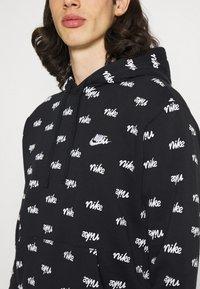 Nike Sportswear - CLUB HOODIE SCRIPT - Hoodie - black/white - 3