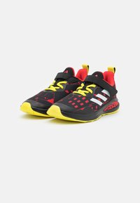 adidas Performance - FORTARUN SUPERHERO UNISEX - Neutral running shoes - core black/footwear white/vivid red - 1