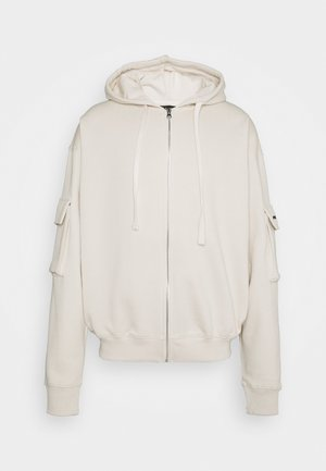 COLORADO UTILITY OVERSIEZD UNISEX - Zip-up hoodie - coconut milk