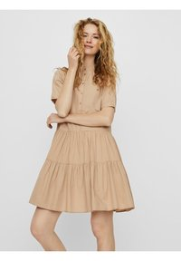 Vero Moda - VMDELTA DRESS - Shirt dress - beige - 0
