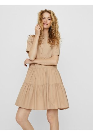 VMDELTA DRESS - Vestido camisero - beige