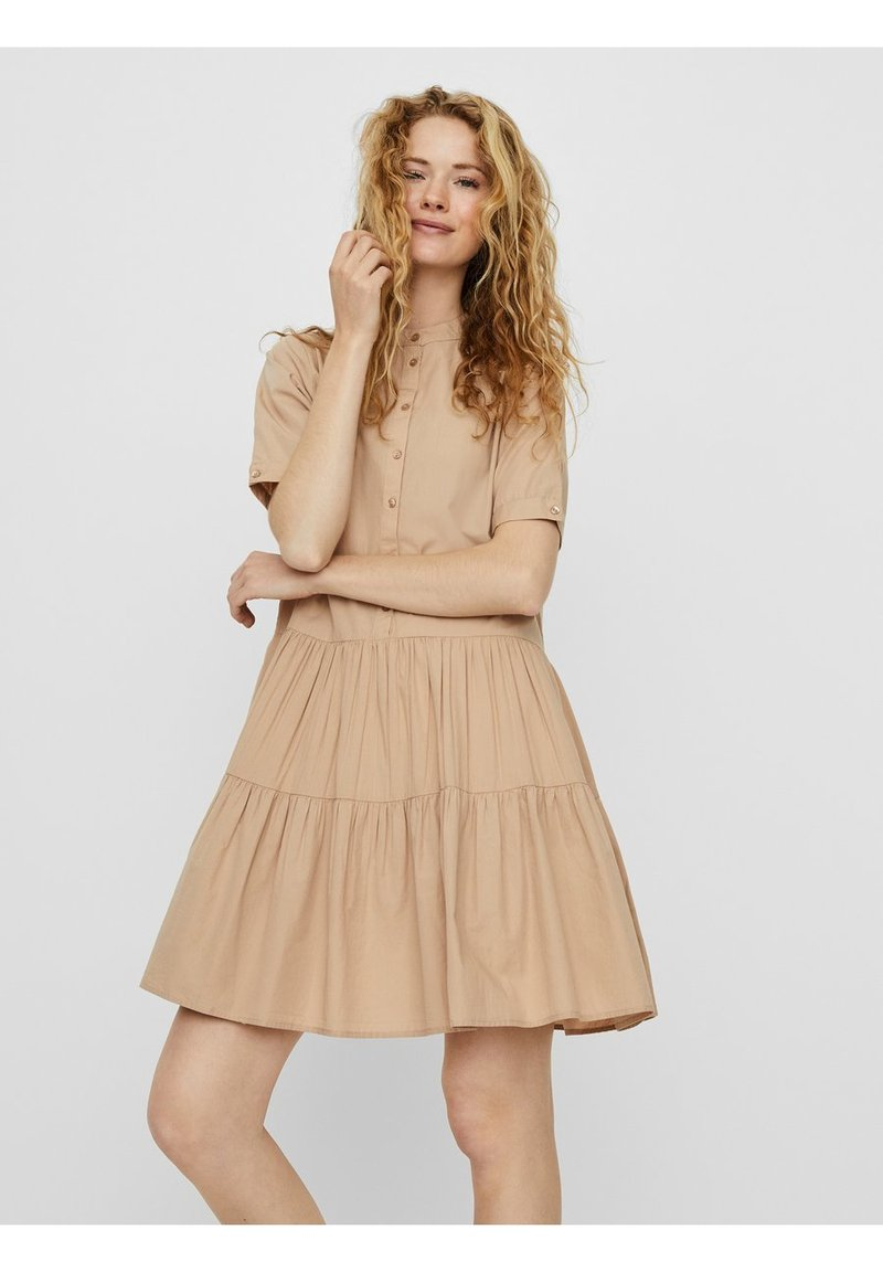 Vero Moda - VMDELTA DRESS - Shirt dress - beige