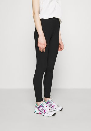 BOXER DETAIL - Leggings - black