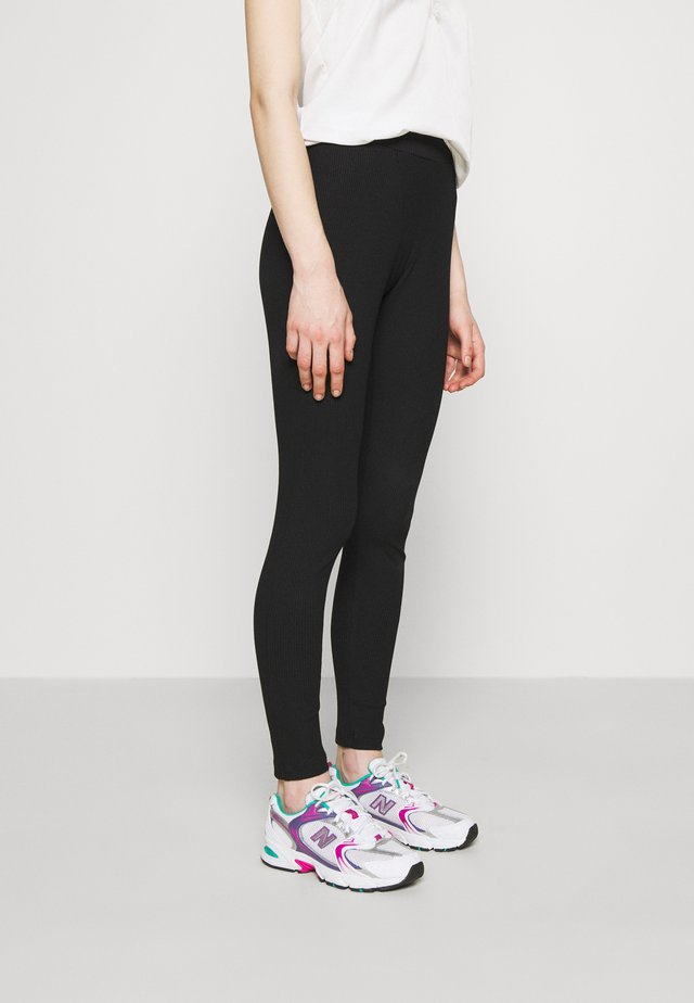 BOXER DETAIL - Leggings - Trousers - black
