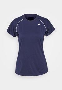 ASICS - COURT PIPING - T-shirt imprimé - peacoat - 0