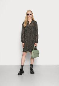 Esprit Collection - DRESSES LIGHT WOVEN - Shirt dress - khaki green - 1