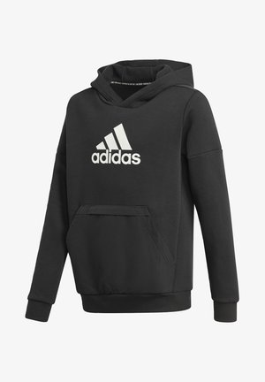 LOGO FLEECE ATHLETICS SWEATSHIRT HOODIE - Bluza z kapturem - black