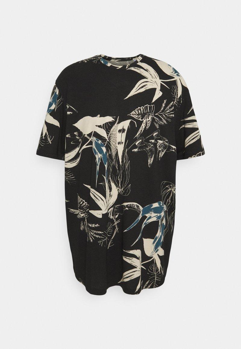 Jack & Jones - JORMONET TEE CREW NECK - Print T-shirt - black