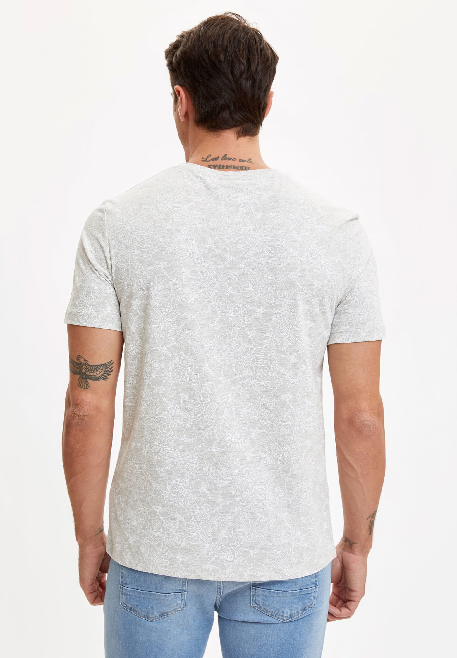 DeFacto Basic T-shirt - beige fg8Mv