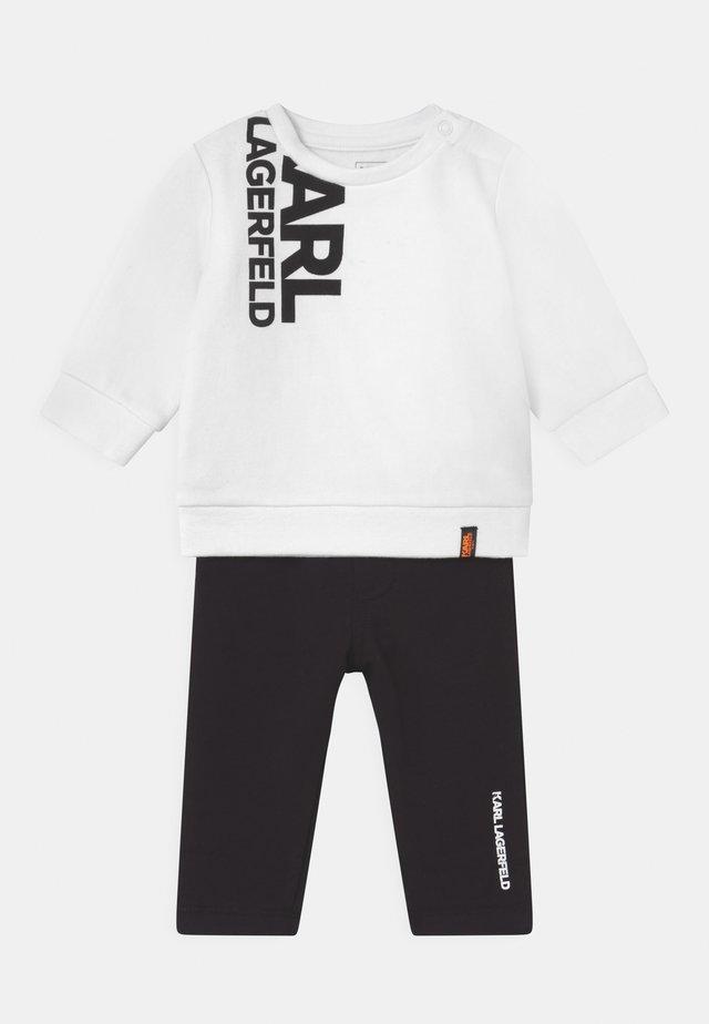BABY SET UNISEX - Trainingspak - black/white
