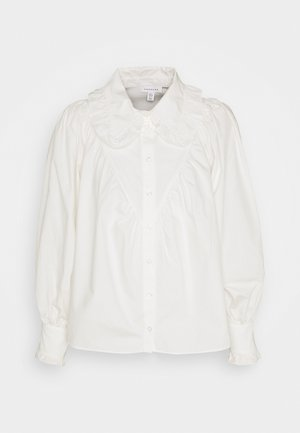 RUFFLE COLLAR - Button-down blouse - white