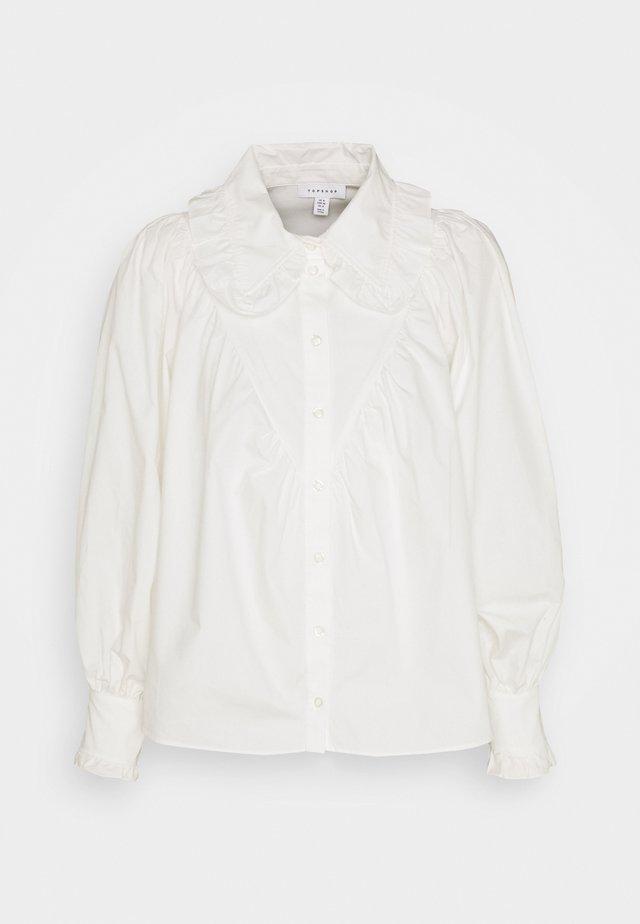 RUFFLE COLLAR - Skjortebluser - white