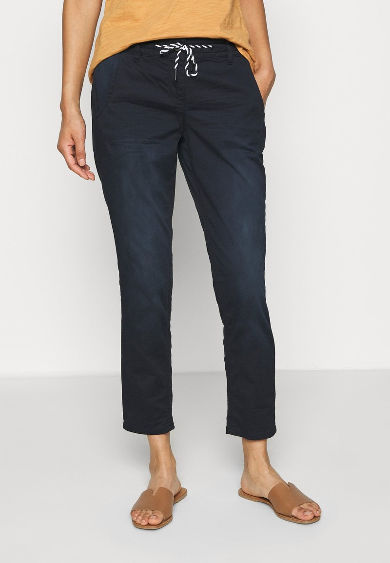 TOM TAILOR - TAPERED RELAXED - Trousers - dark blue