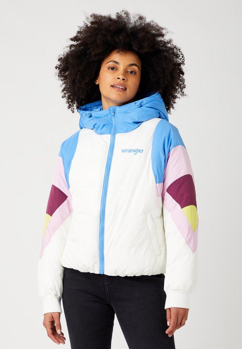 Wrangler - RAINBOW PUFFER - Winter jacket - worn white