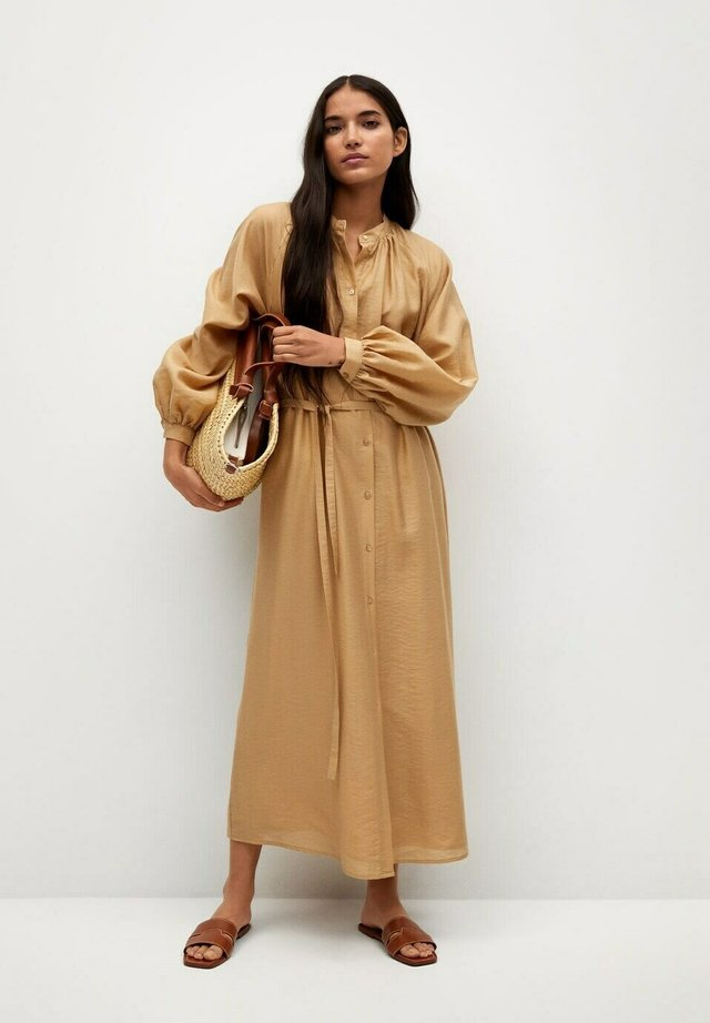 Shirt dress - marron moyen