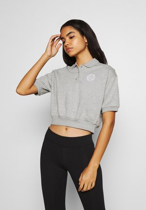 FEMME CROP - Polotričko - grey heather/matte silver/white