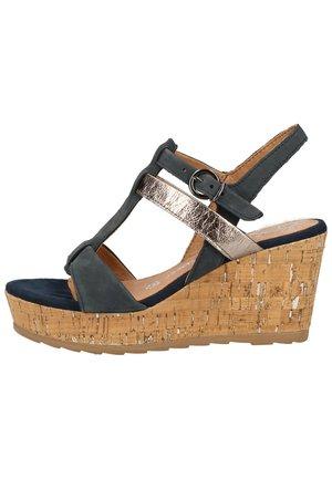 Sandales à plateforme - navy comb