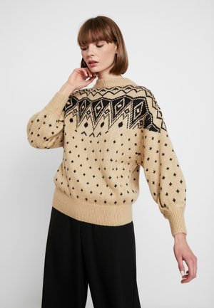 MAJ - Strickpullover - tan/black