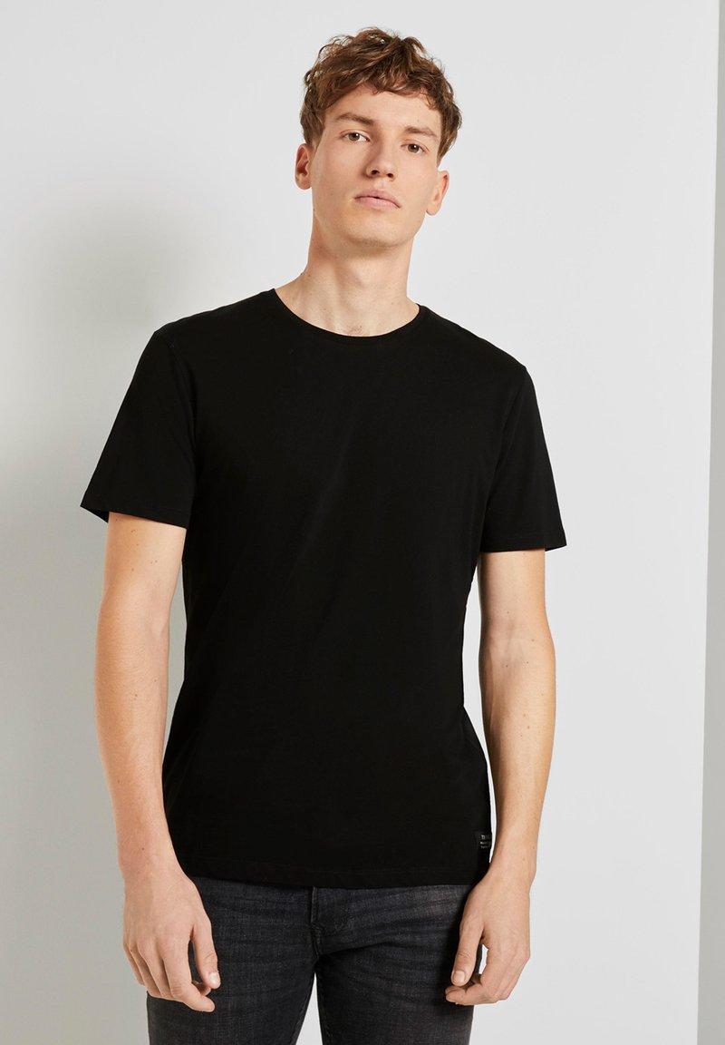 TOM TAILOR DENIM - Basic T-shirt - black