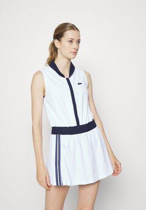 TENNIS DRESS - Sports dress - blanc/bleu marine