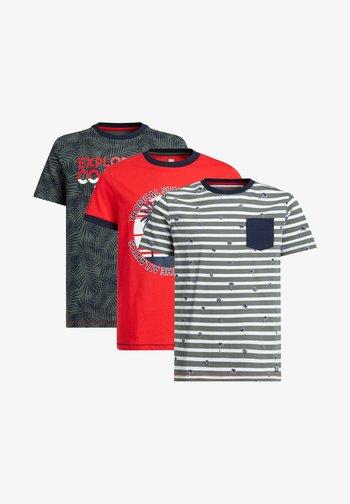3-PACK - Print T-shirt - multi-coloured