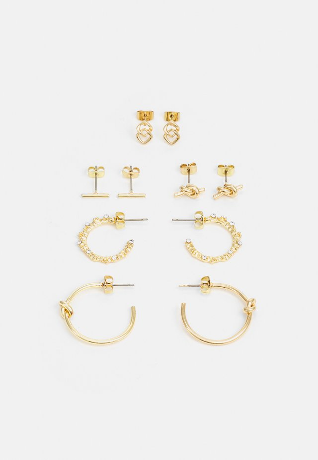 EARRINGS 5 PACK - Øreringe - gold-coloured