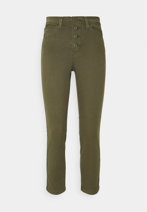 724 HR STR CROP UTILITY - Pantalon classique - olive night