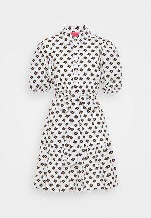 BLOCK FLOWER SHIRTDRESS - Shirt dress - cream