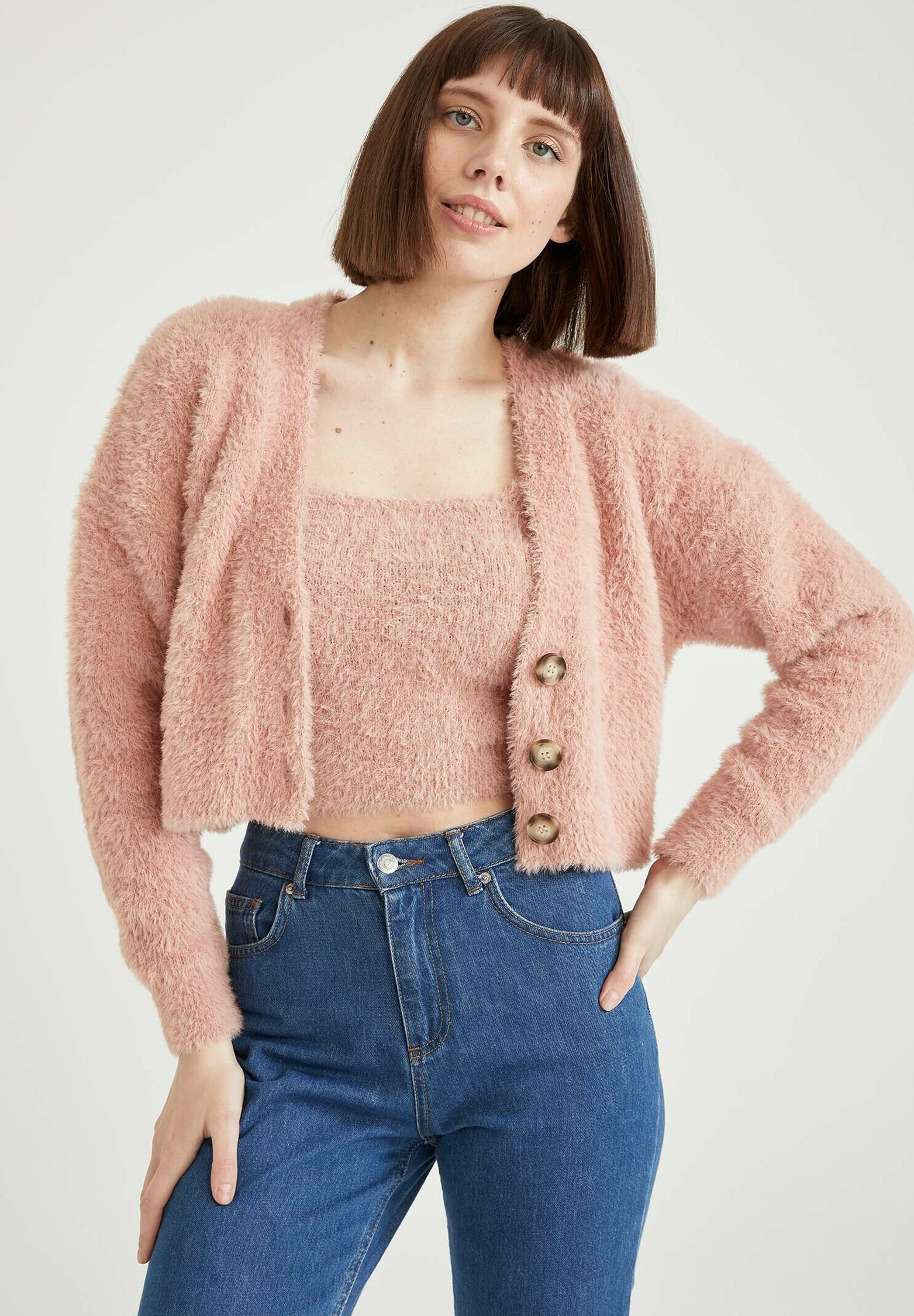 Donna CROPPED FIT - Cardigan