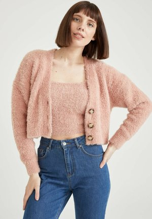 CROPPED FIT - Cardigan - pink