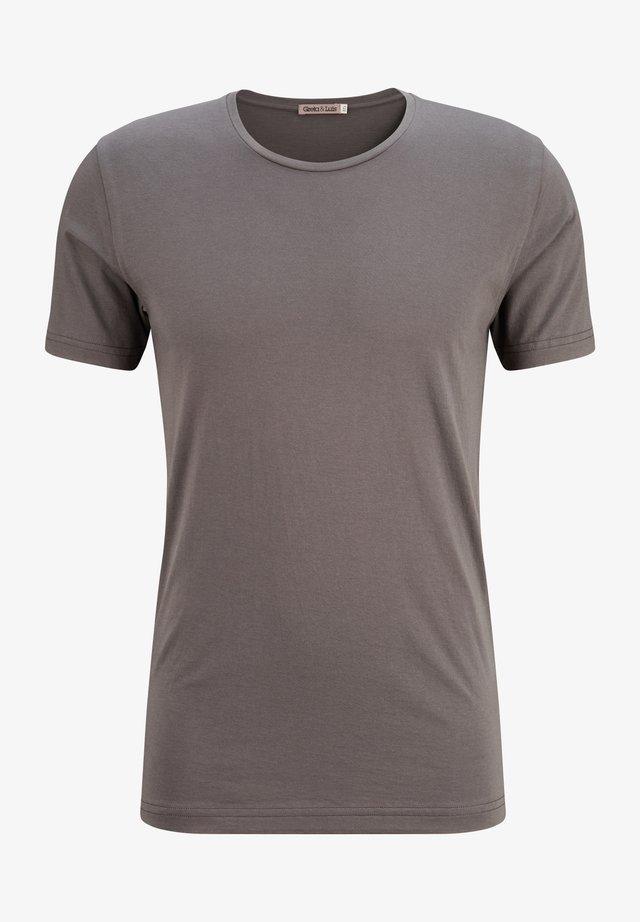 PREMIUM-KURZARM EGON - Basic T-shirt - antracita