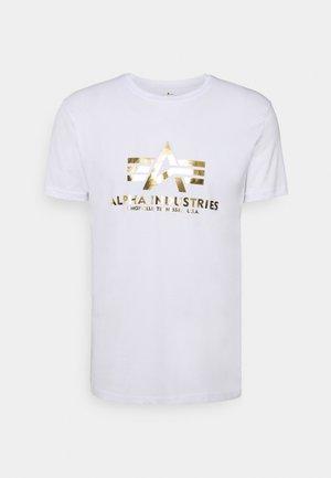BASIC PRINT - Print T-shirt - white/yellow gold