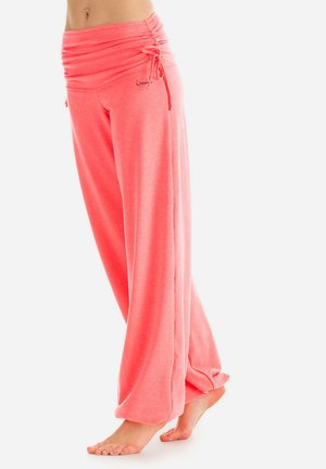 Tracksuit bottoms - neon coral