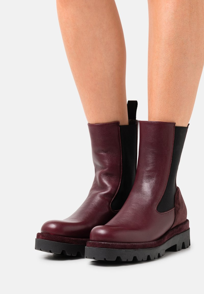 lilimill - ASTRID - Platform ankle boots - twister magenta