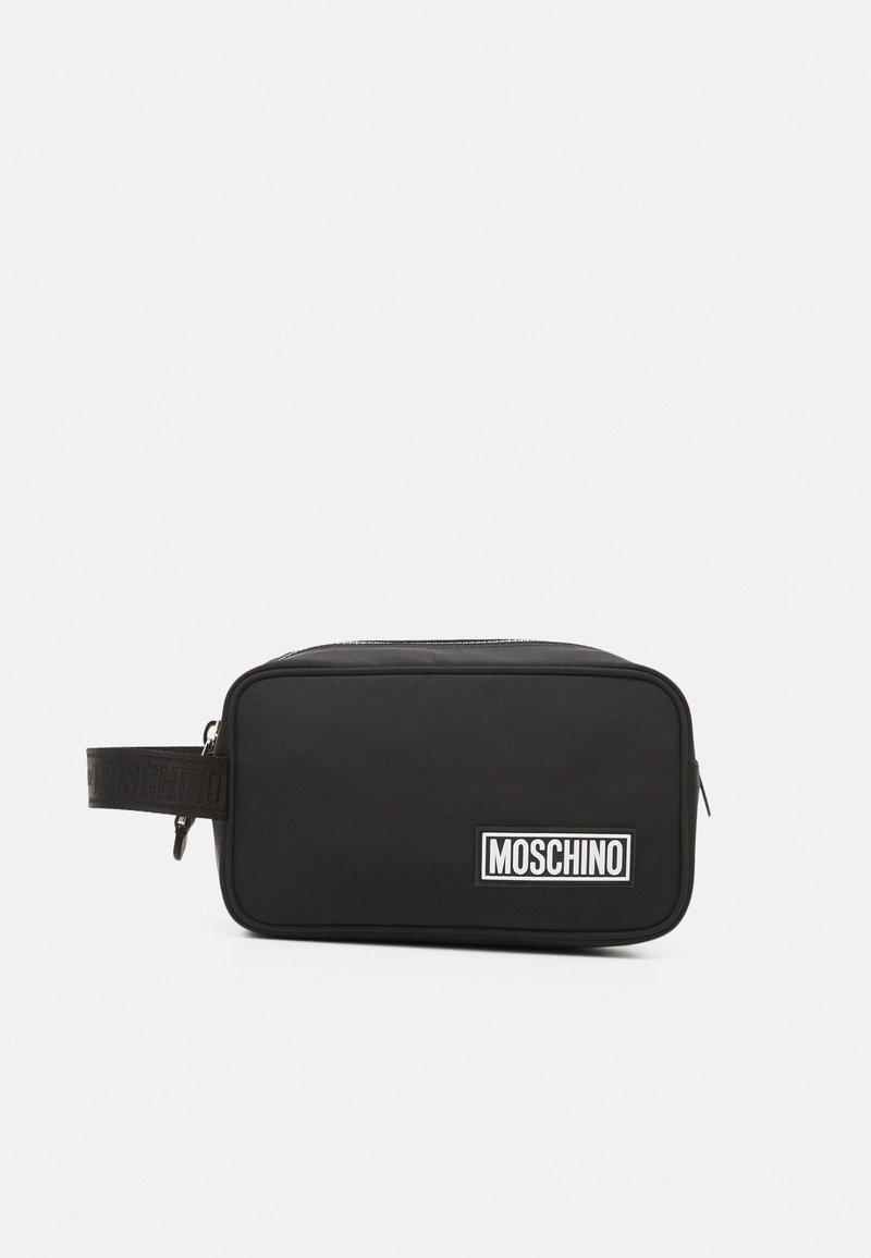 MOSCHINO - WASH BAG UNISEX - Wash bag - black